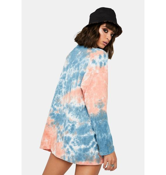 Free People Cotton Candy Be Free Tie-Dye Tee