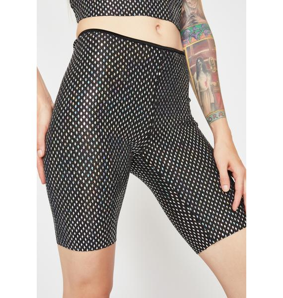 Bass Riot Holographic Shorts