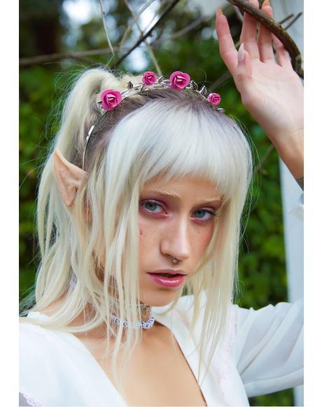 Metal Roses Floral Headband