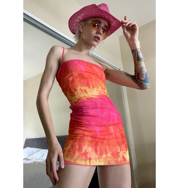 Fire Water Mini Dress