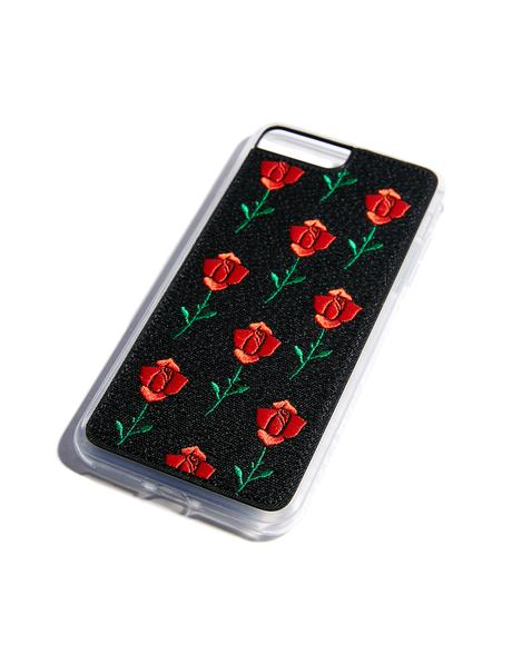 Scarlet Rose Embroidered Case