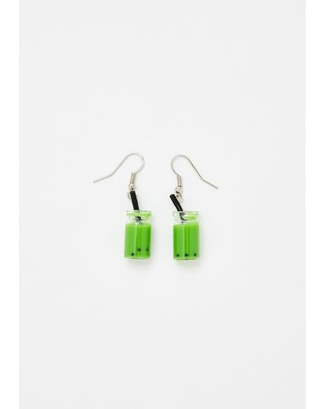 Miss Matcha Hook Earrings