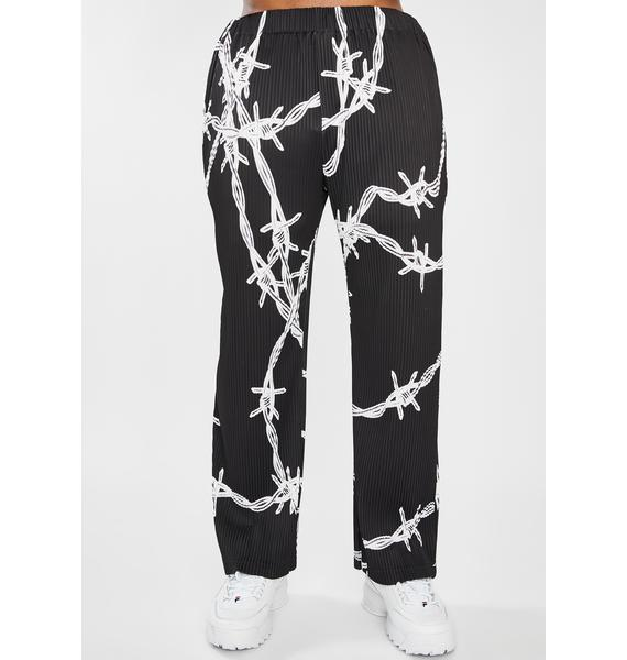 Jaded London Barbed Wire Pleated Trousers
