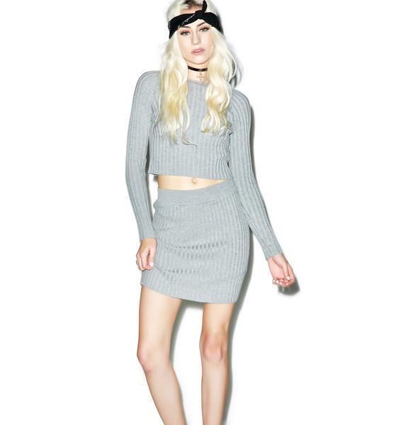 For Love & Lemons Back To Basics Mini Skirt