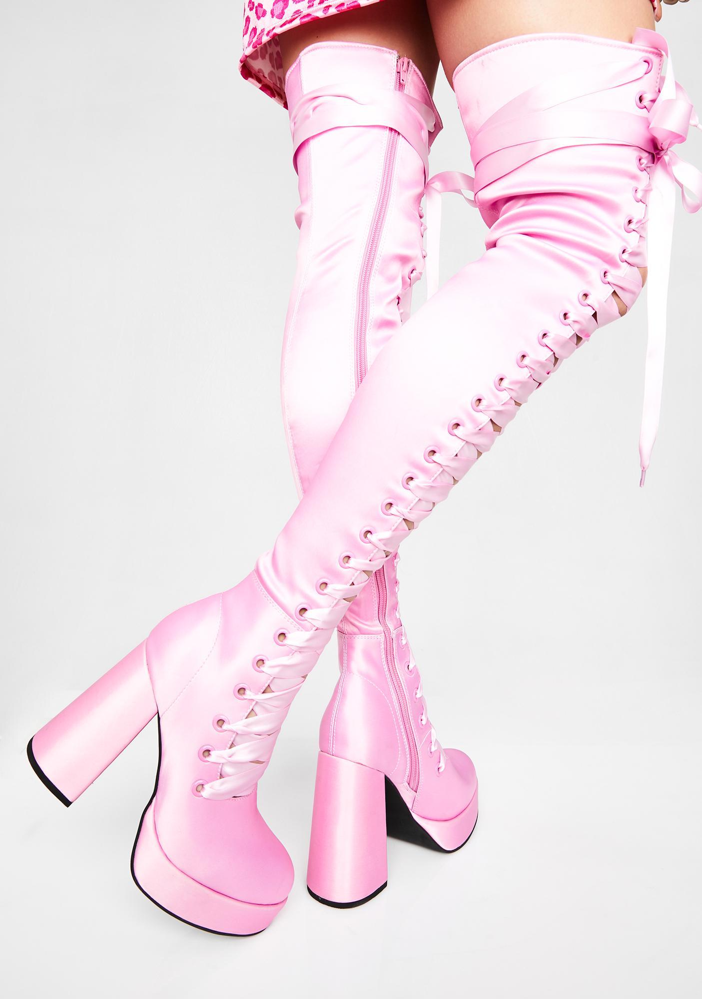 Sugar Thrillz Dollhouse Diva Thigh High Boots