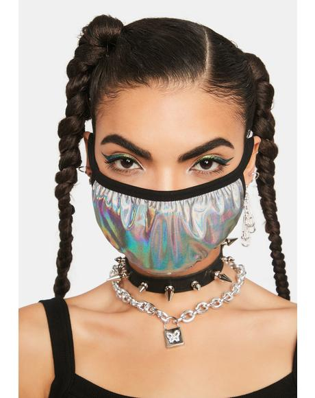 Liquid Dreams Holographic Face Mask