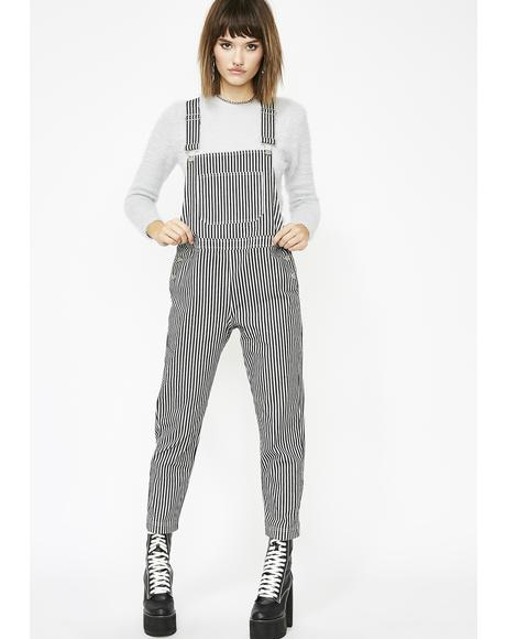 High Grade Babe Stripe Overalls