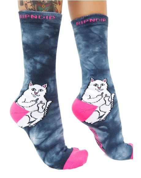 Lord Nermal Acid Pink Socks