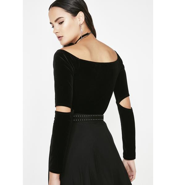 Dark What I Like Off Shoulder Bodysuit