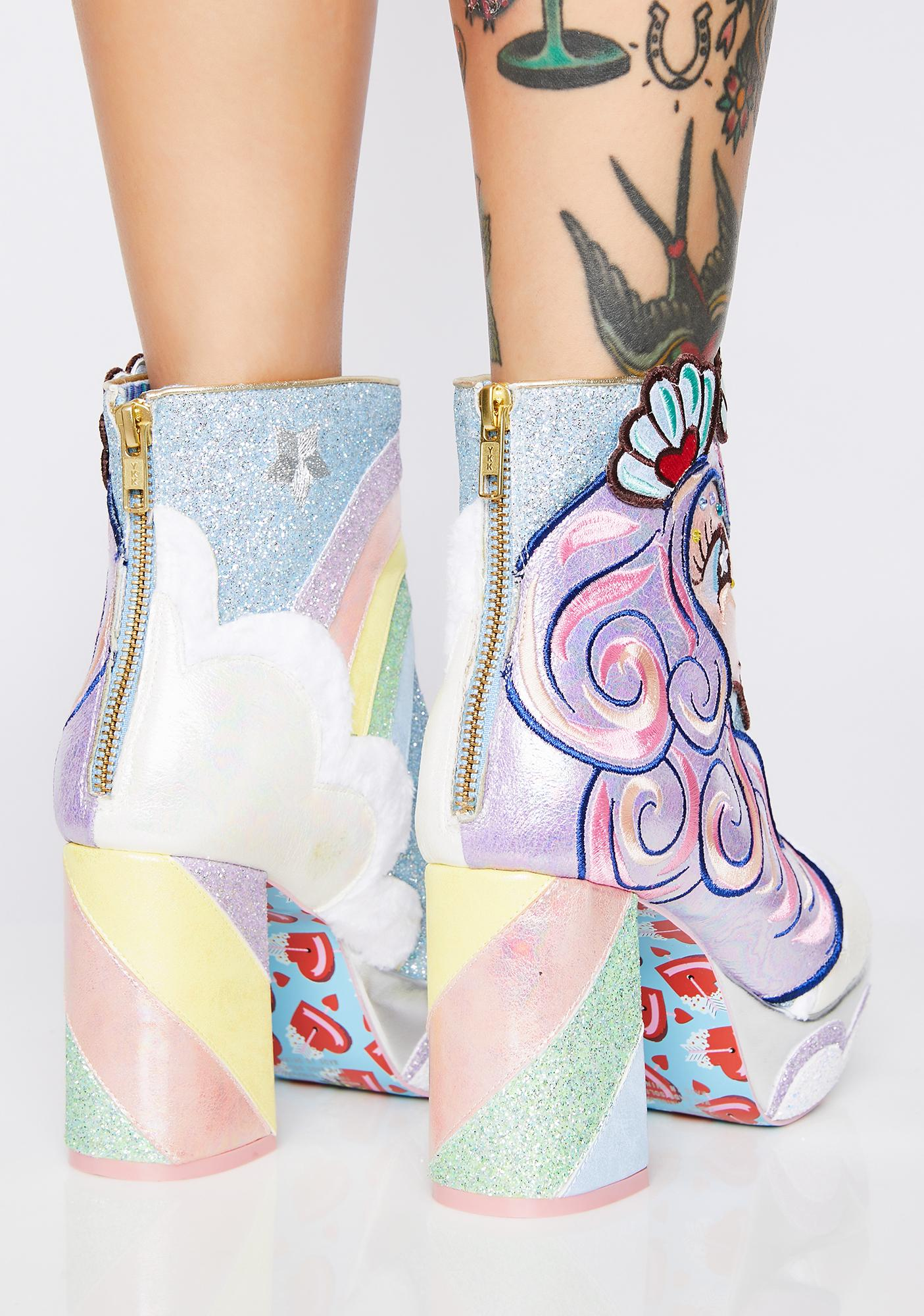 Irregular Choice Daisy Dreams Glitter Boots