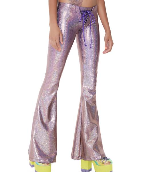 Club Exx Rhiannon Lace-Up Bell Bottoms