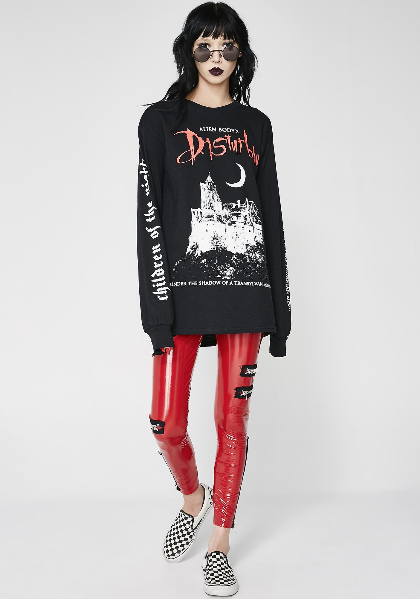Disturbia Transylvaniac Long Sleeve Tee