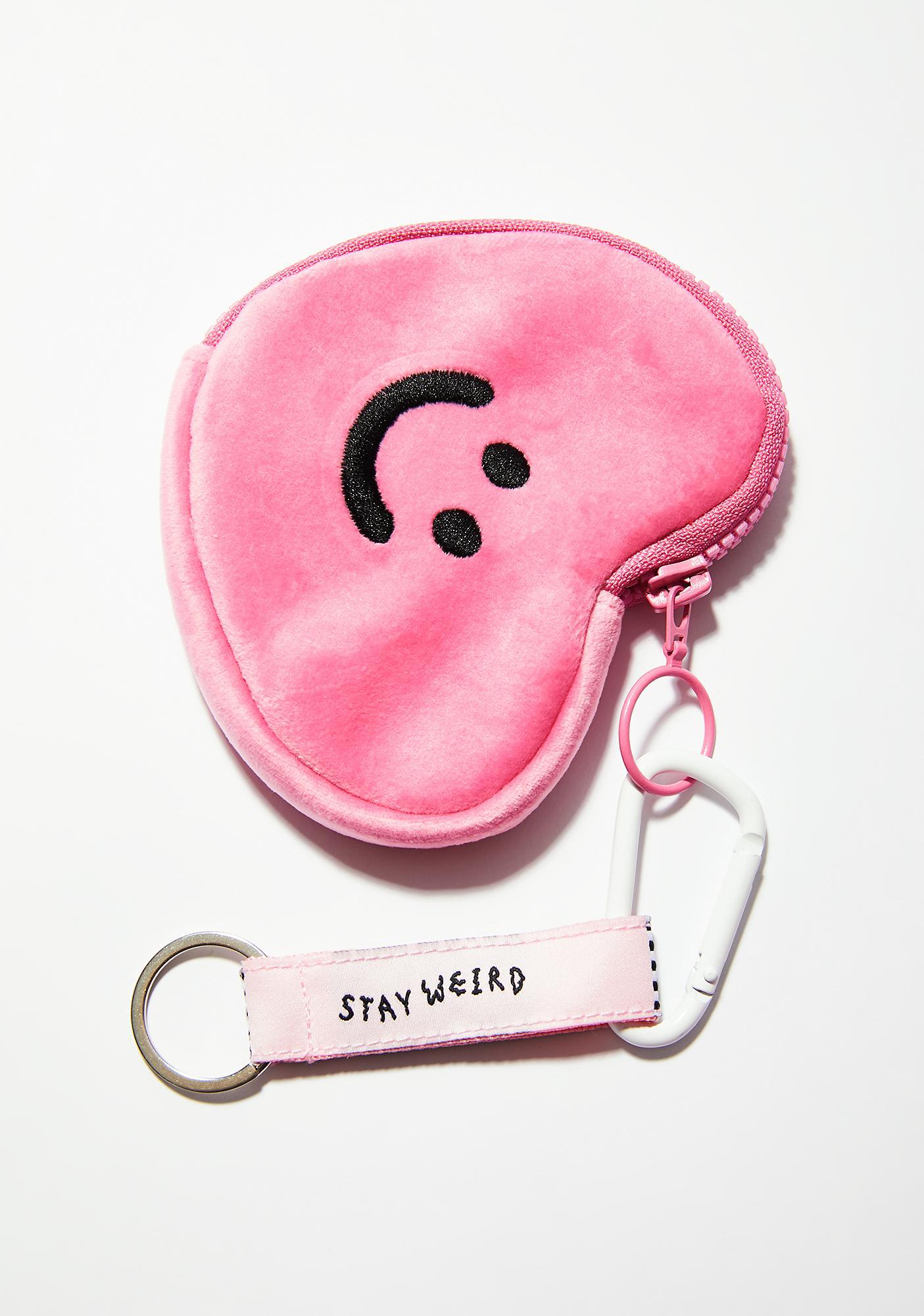 Lazy Oaf Pink Happy Heart Purse
