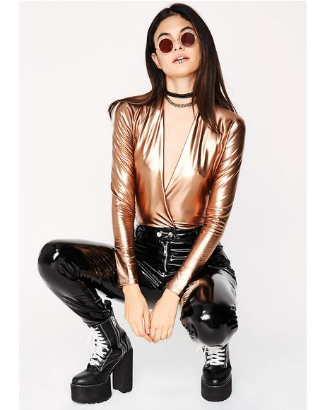 Gold Milla Metallic Bodysuit