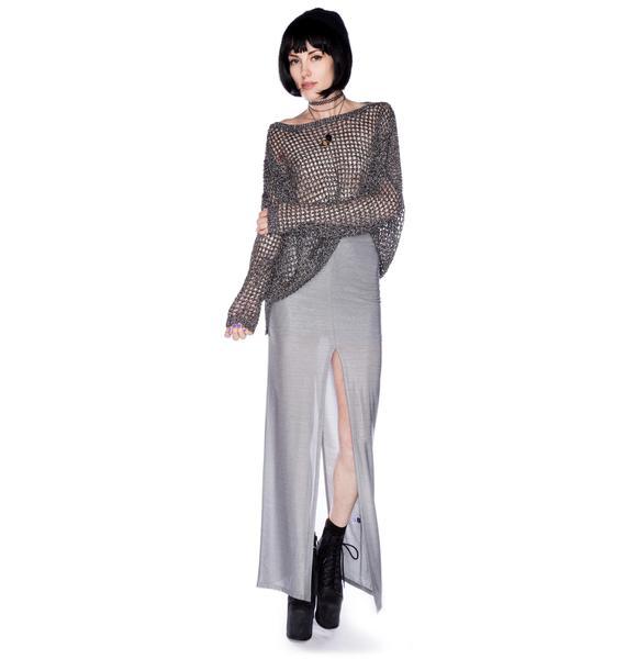 AGAIN Hellenic Double Slit Skirt
