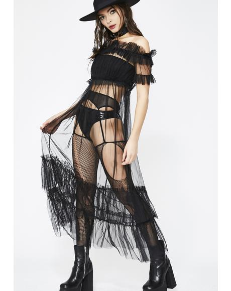 Midnight Dazed Tulle Dress