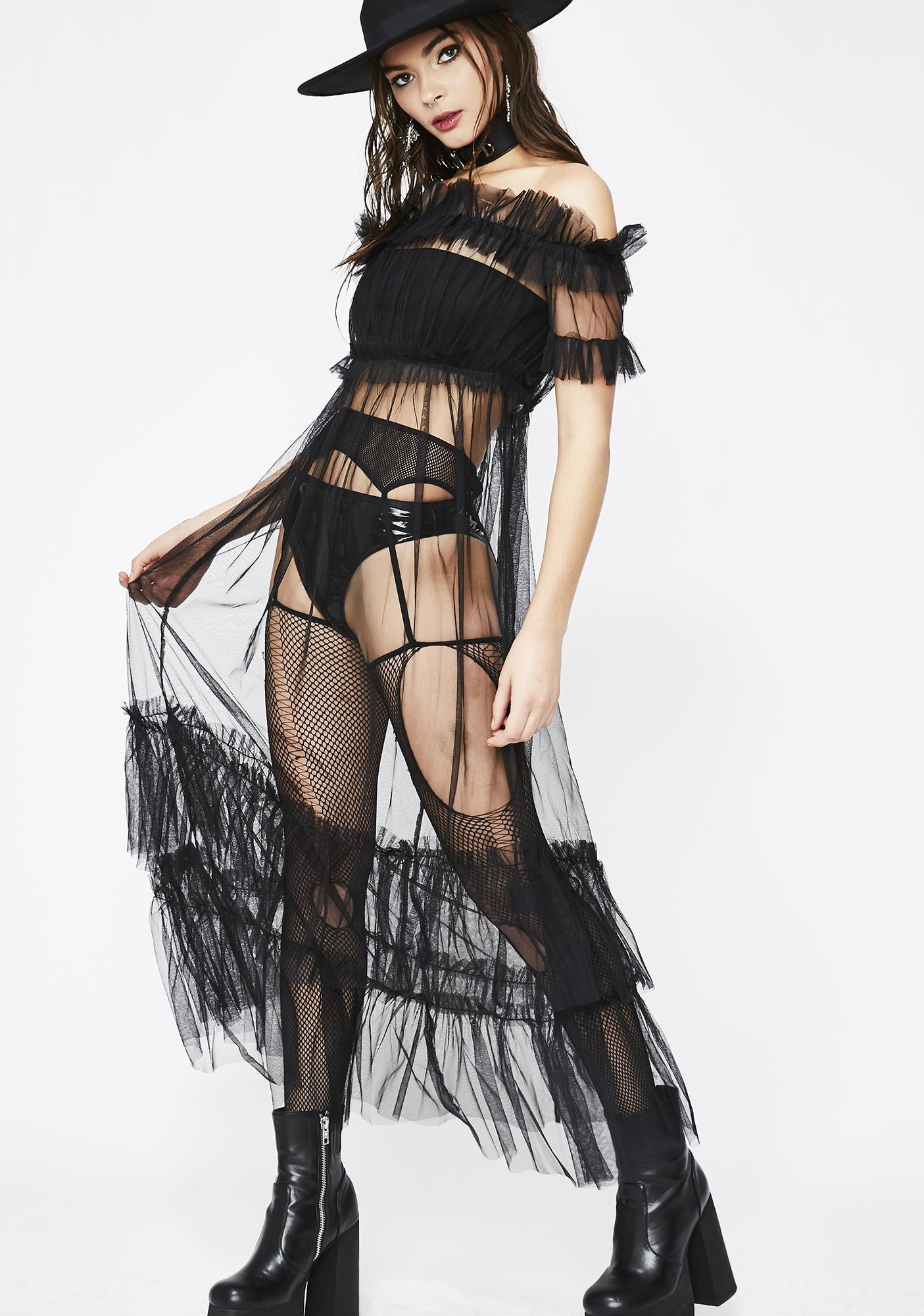 Midnight Dazed Tulle Dress