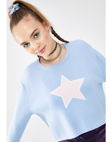 Rising Star Cropped Sweater