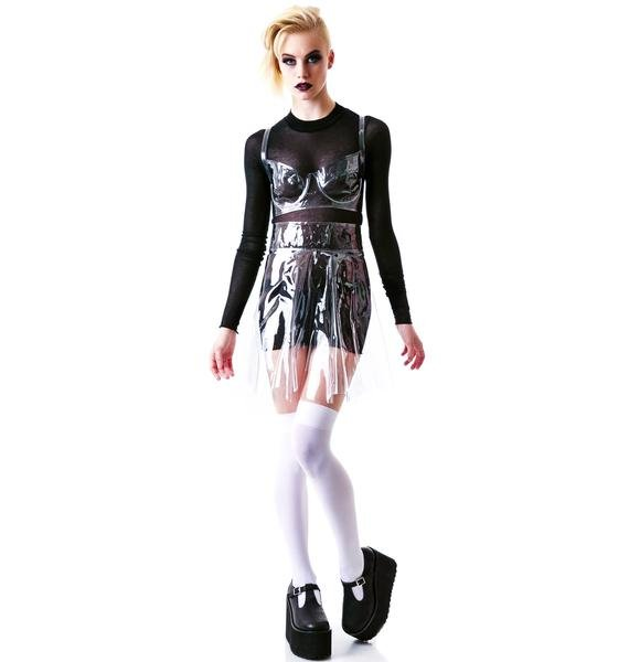 Chromat Piriform Vinyl Skirt
