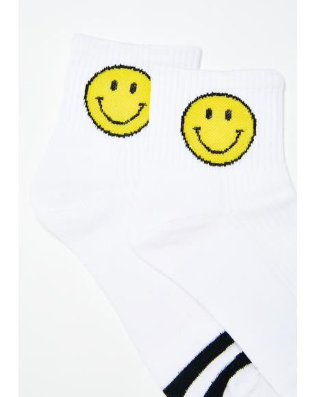 Grin N' Bear It Smiley Socks