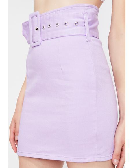 Purp Straight Vicious Mini Skirt
