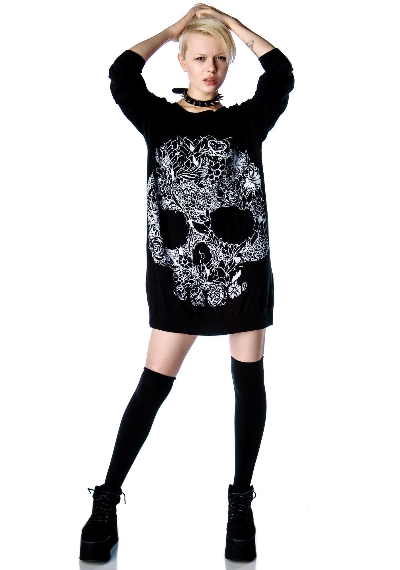 Wild One Skull Jumper Dress