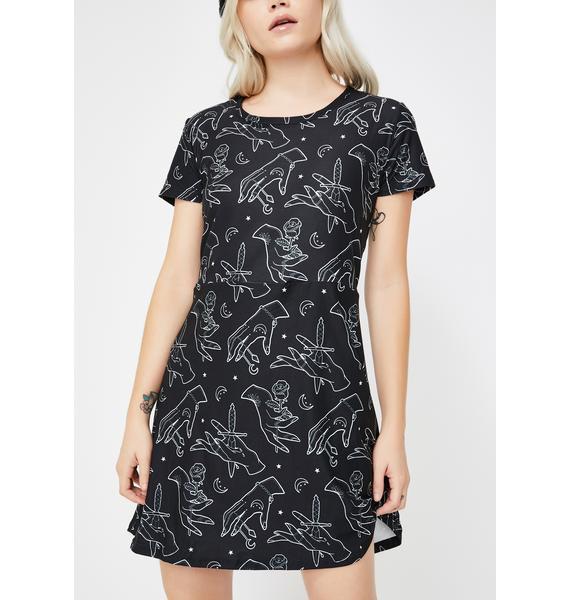 Too Fast Gypsy Hands A-Line Mini Dress