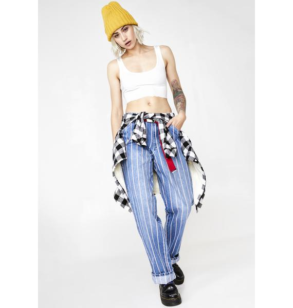 Dickies Girl Peppermint Stripe Carpenter Jeans