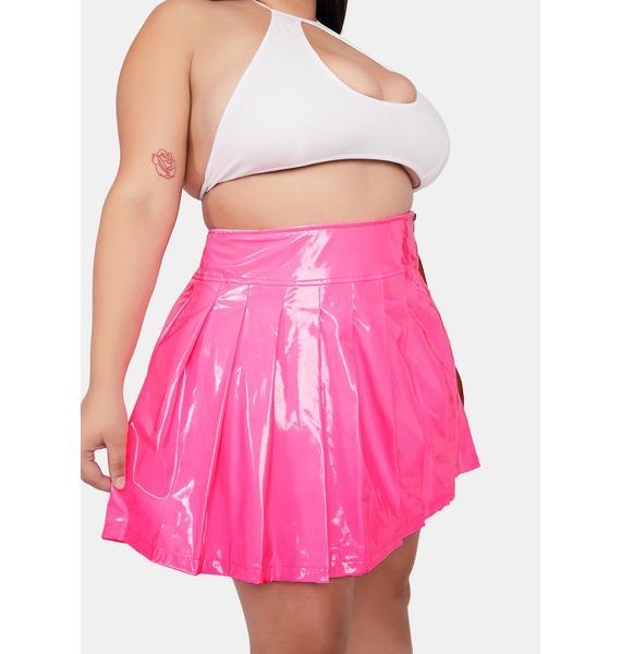 Luxe Bubblegum Dreams Vinyl Skirt