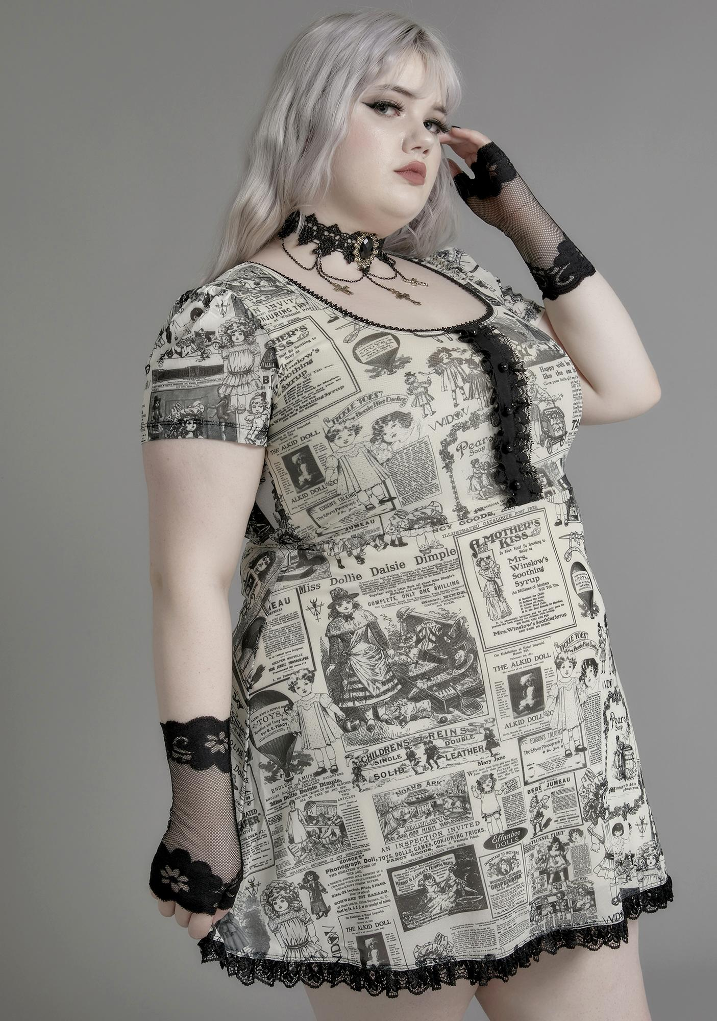 Widow Infinite Unfortunate Events Mesh Dress