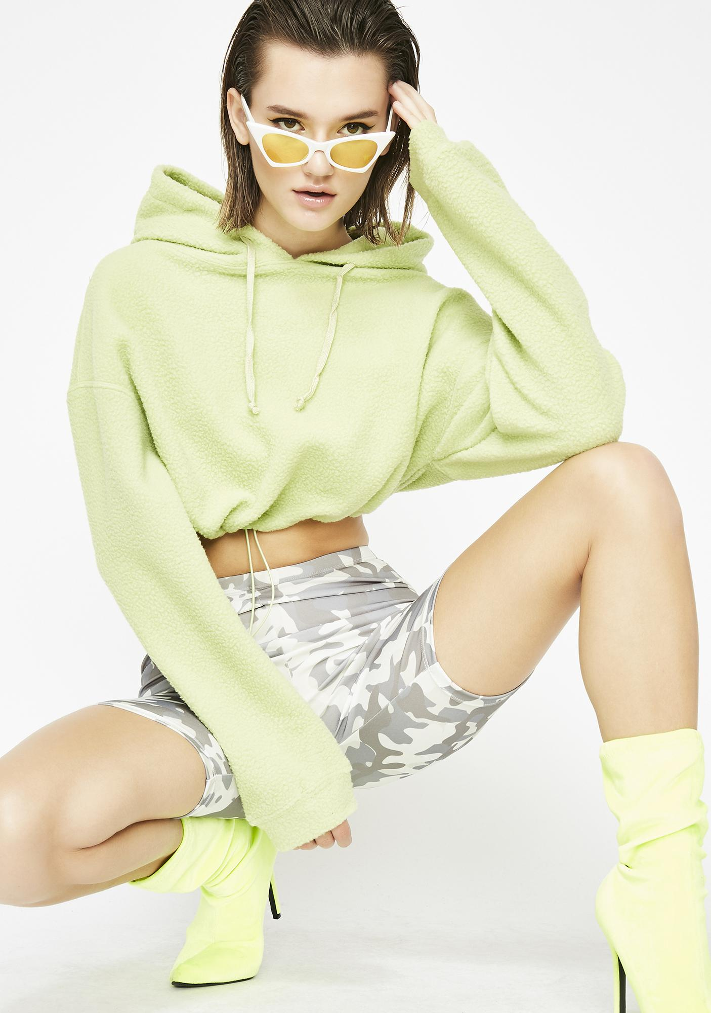 Only One Cropped Hoodie