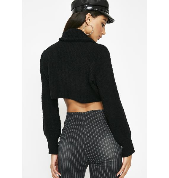 Midnight Instafamous Crop Sweater