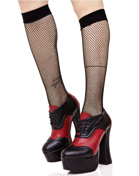 Everyday Slay Fishnet Knee Highs