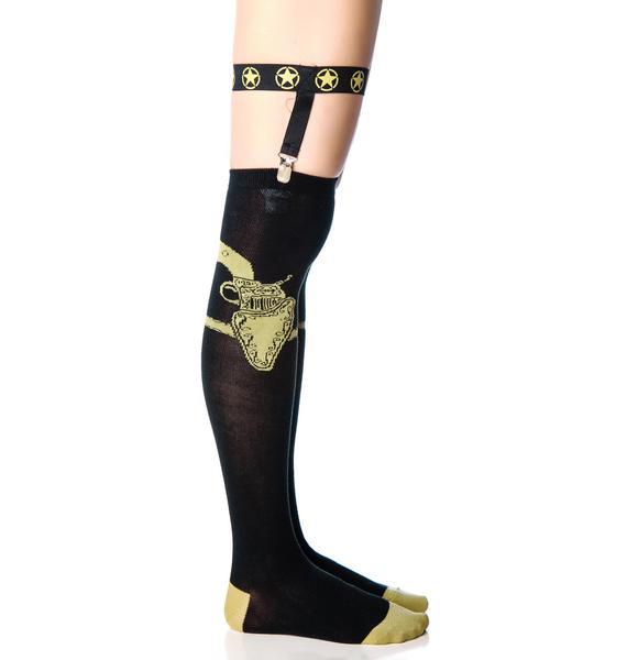 Too Fast Gun Garter Socks