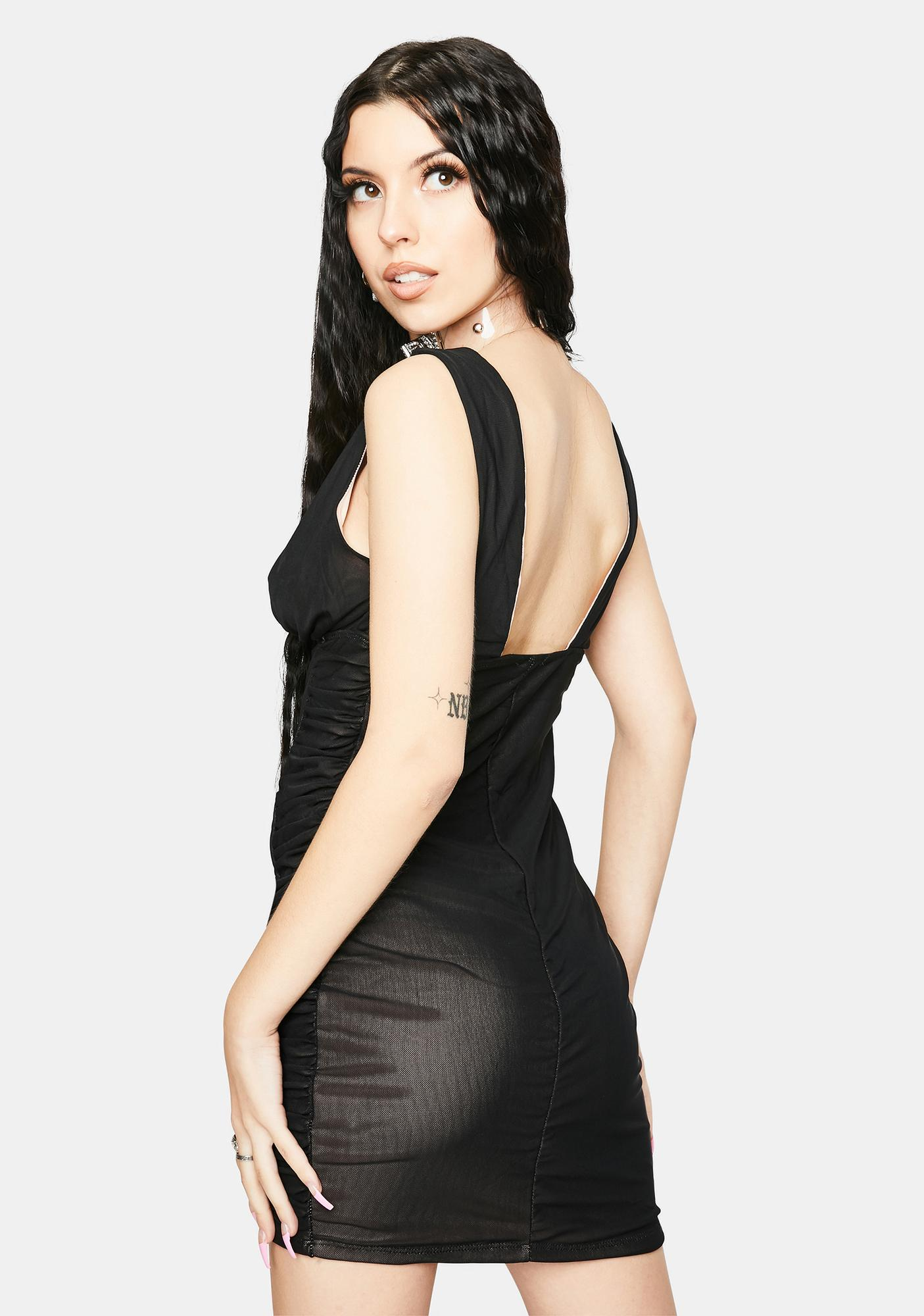 Night Center Of Attention Ruched Dress