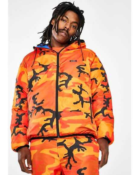 Reversible Hooded Camo Jacket