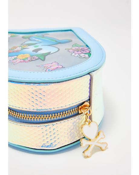 Watercolor Paradise Clear Cosmetic Bag