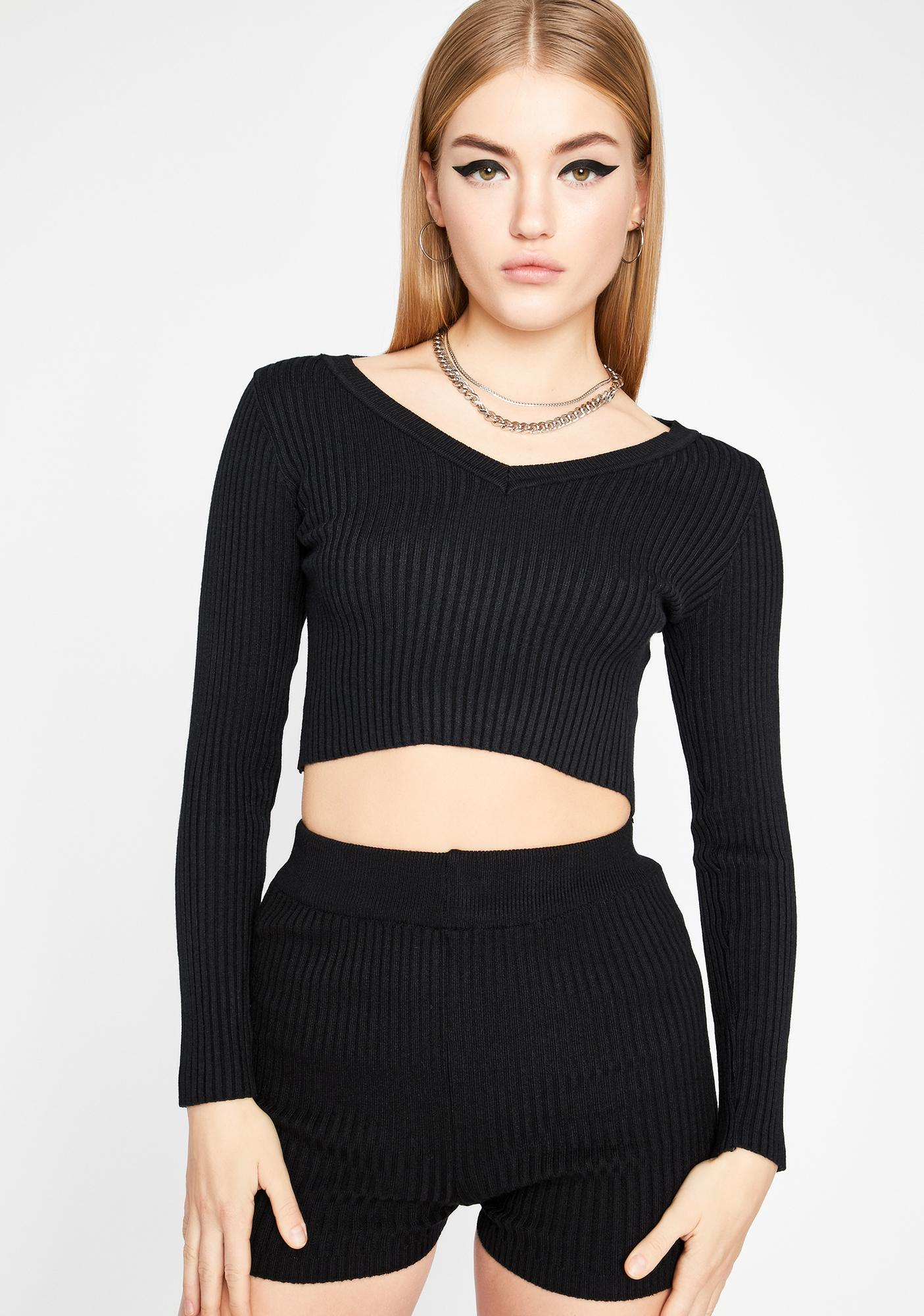 Midnight Melrose Avenue Sweater Set
