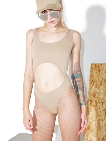 Nude Cutout Bodysuit