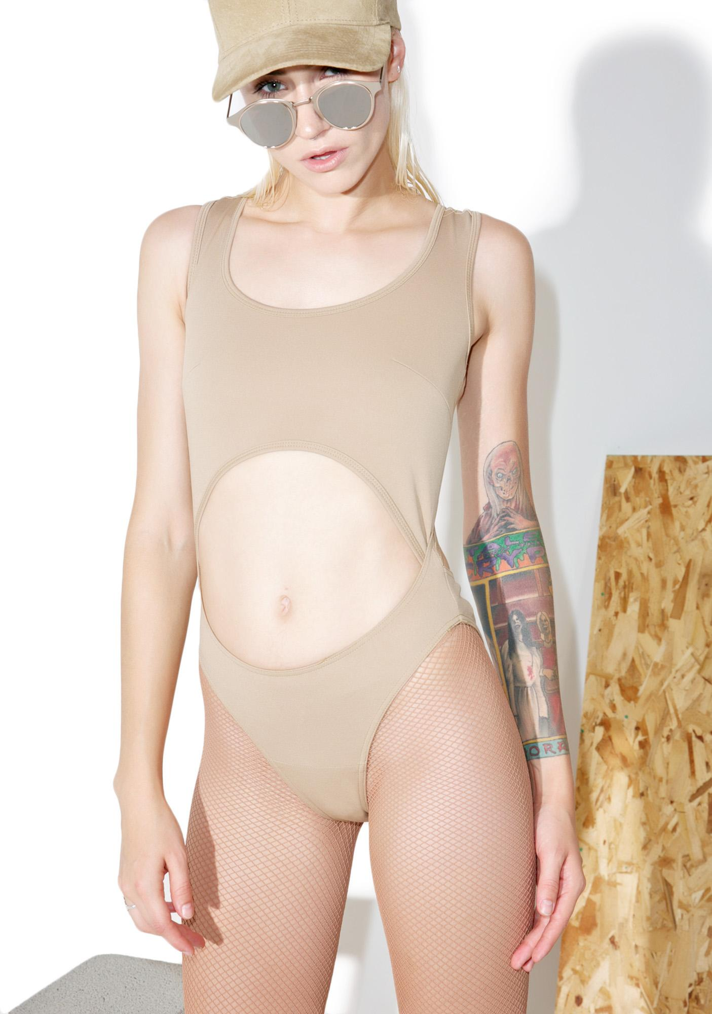 Shade London Nude Cutout Bodysuit