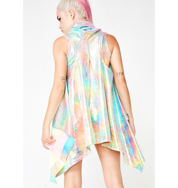 MolliPop Glow Mystic Tie Dye Swing Vest