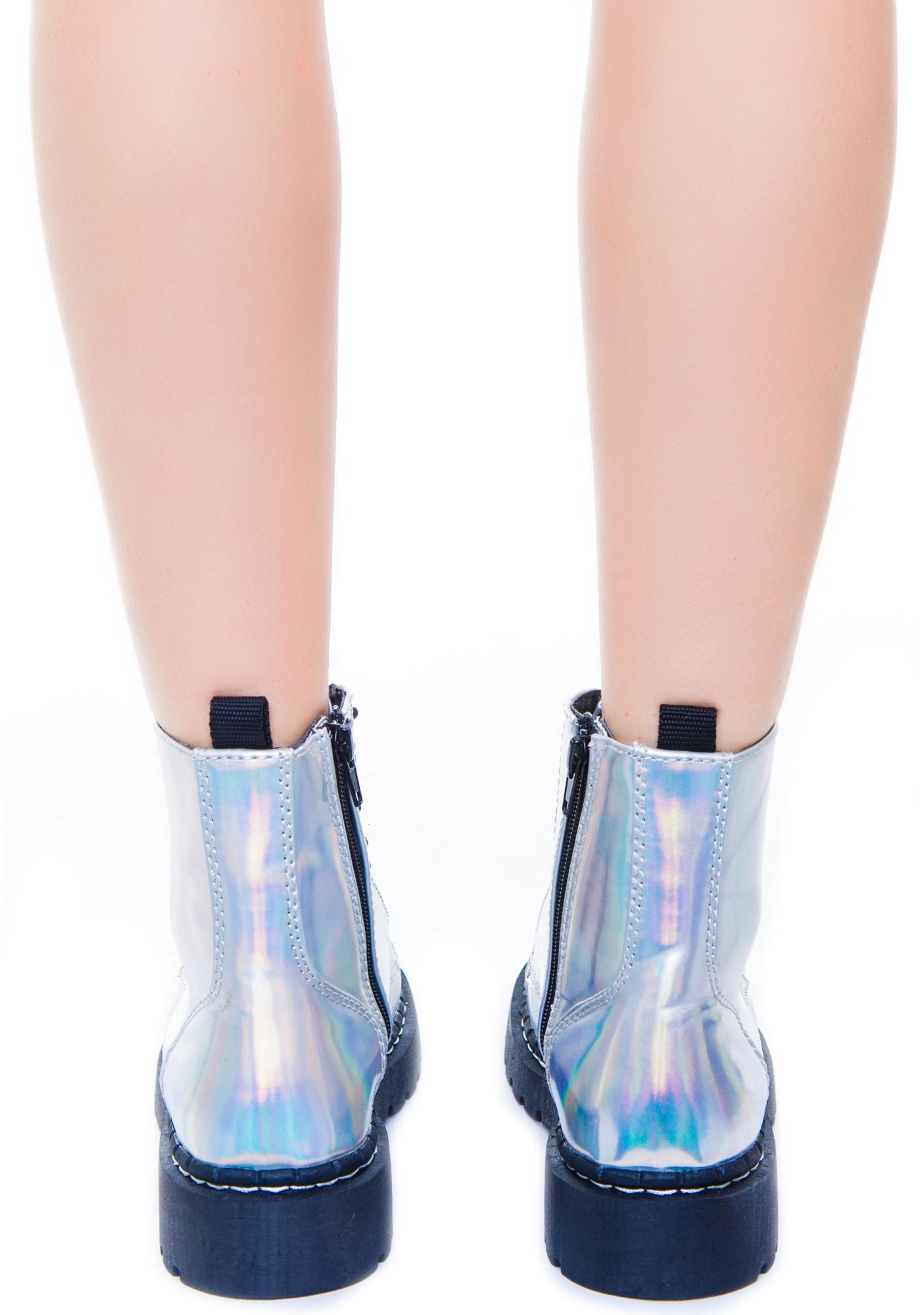 T.U.K. Iridescent 7 Eye Boot