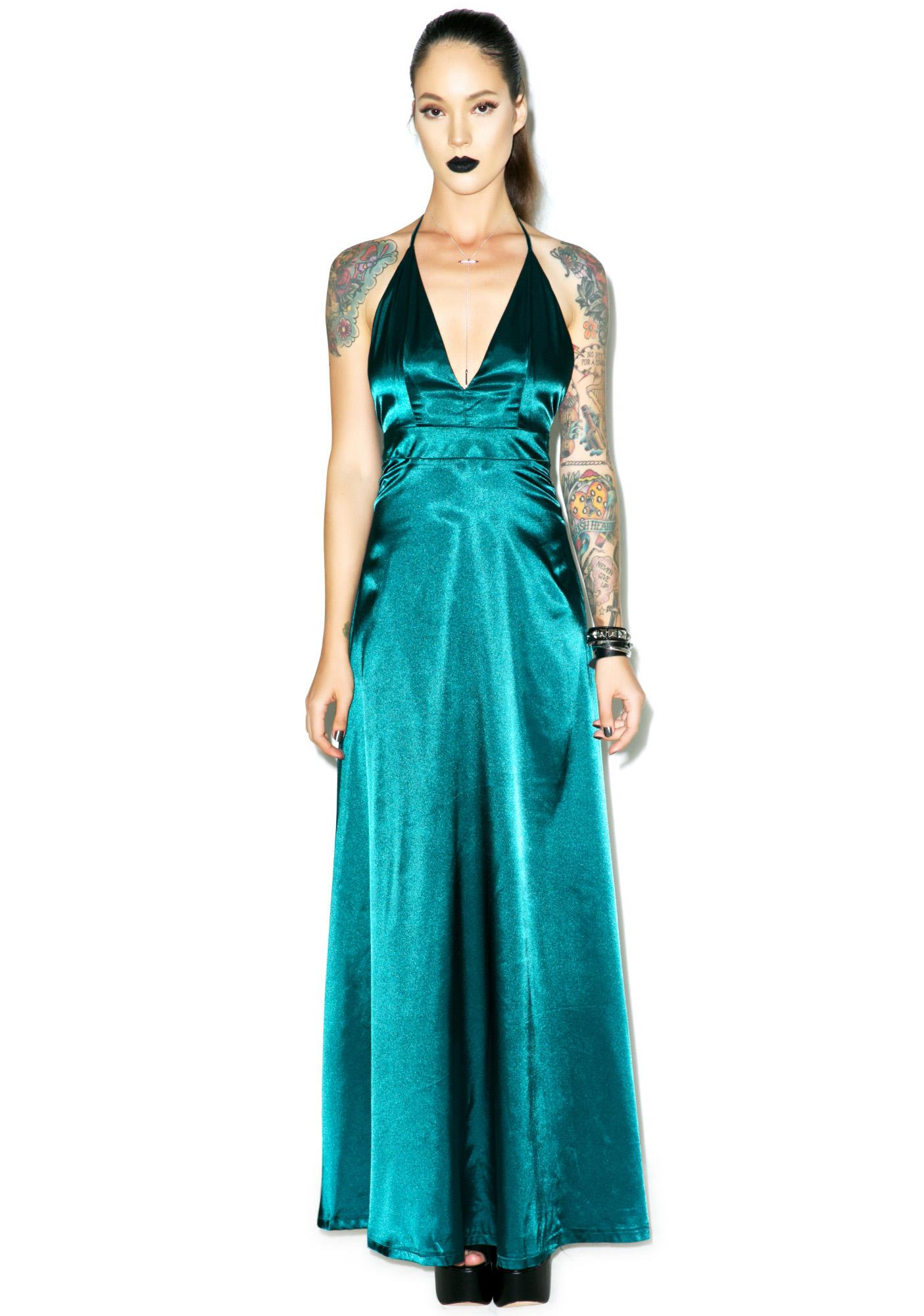 Emerald City Maxi Dress | Dolls Kill