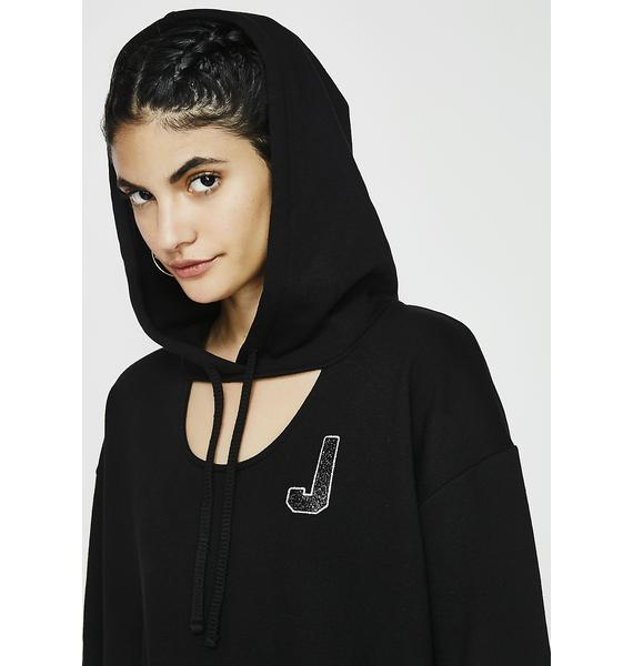 JUICY COUTURE 09 Glitter Logo Fleece Hoodie