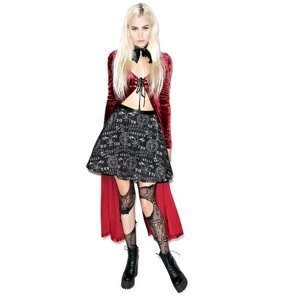 Too Fast Ouija Strode Skirt