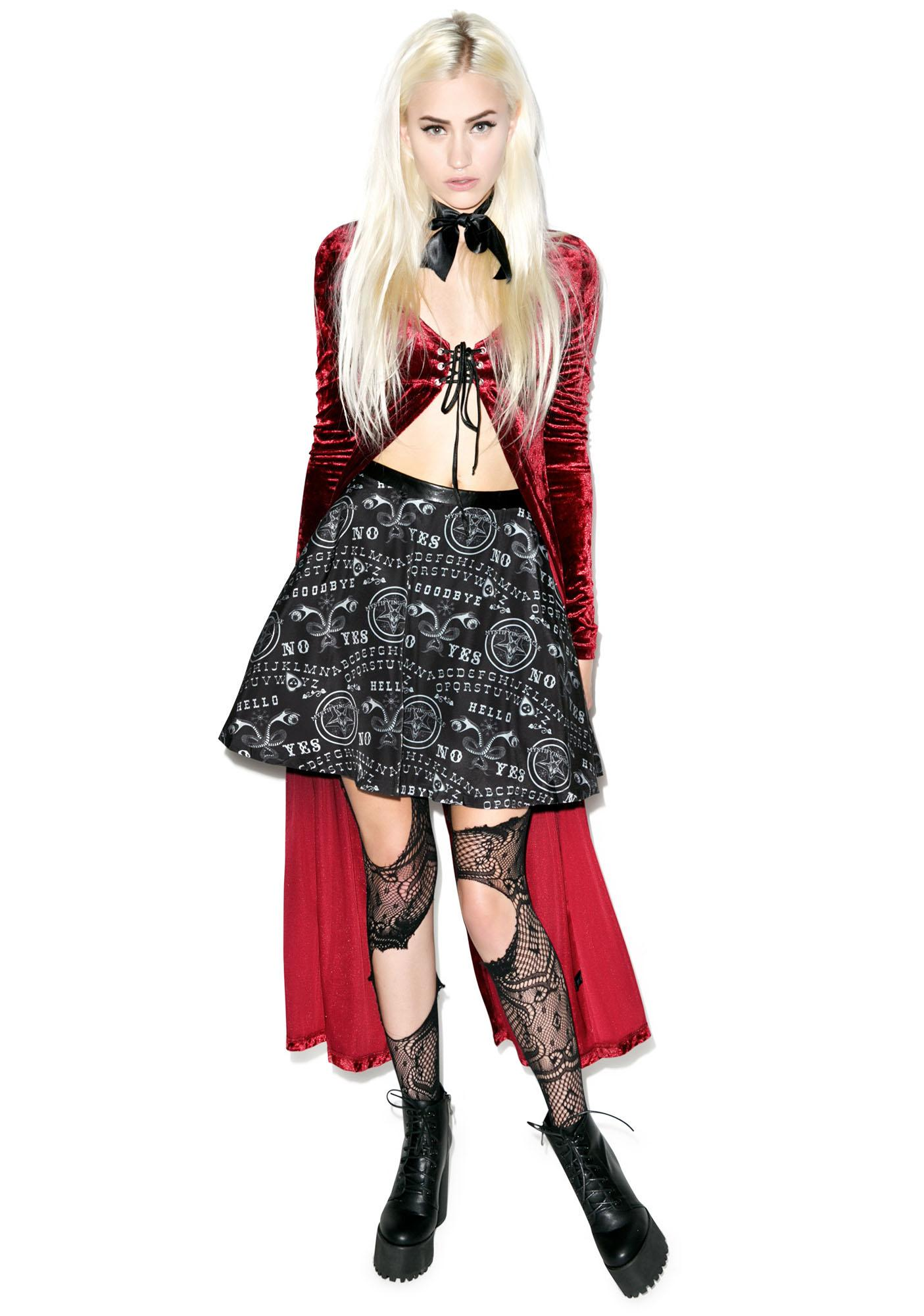 Too Fast Ouija Strode Skirt