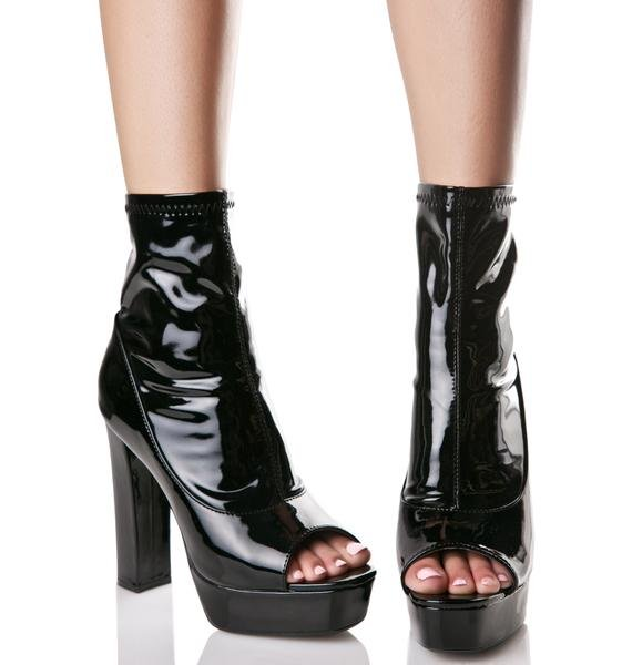 Eclipse Peep-Toe Boots