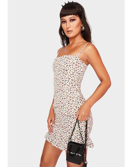 Cream Pick Of The Bunch Mini Dress