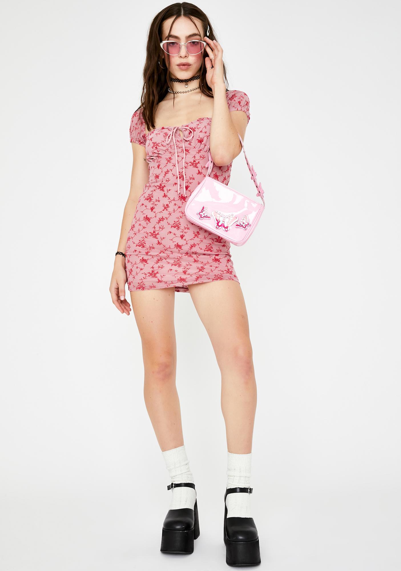Motel Love Bloom Gaina Mini Dress