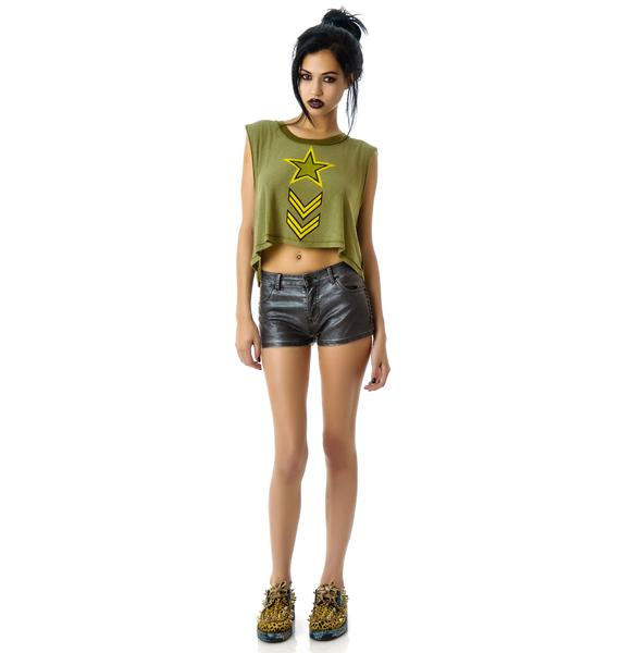 Lip Service Studded Faux Leather Shorts